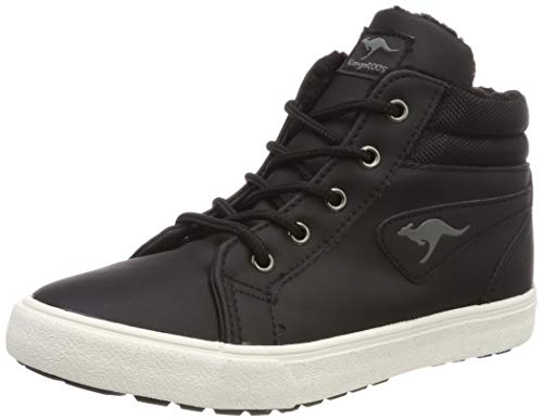 KangaROOS Unisex-Kinder KAVU I High-Top, Schwarz (Black/dk Grey 522), 37 EU