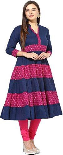 The Style Story Women's Cotton Kurti (SL_8-Medium_Multicolor_Medium)
