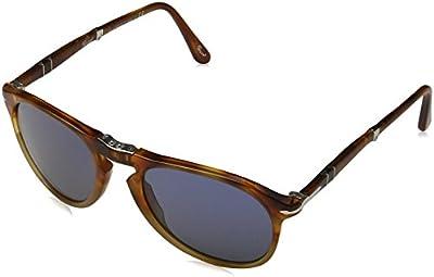 PERSOL PO9714S 102556 (55 mm), Gafas de Sol para Hombre, Marrón (Tabak), Talla Única (Talla del Fabricante: One Size)
