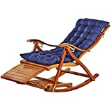Plegable Silla Mecedora Silla de Cubierta sillas reclinables Tumbona Sillón Respaldo jardín Patio balcón Terraza reclinable