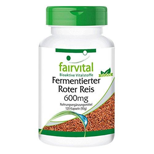 Fermentierter Roter Reis 600mg - Großpackung für 4 Monate - VEGAN - 4,5mg Monacolin K pro Kapsel -...