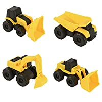 Wowow Toys & Games 5 Inch Construction Vehicles Set Of 4 Trucks | Builders Trucks Great Entertainment For Kids Boys And Girls