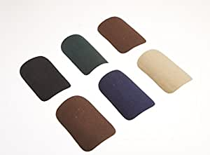 "Singer 00091 2"" X 3"" Assorted Dark Colors Iron On Patchettes 10 Count"