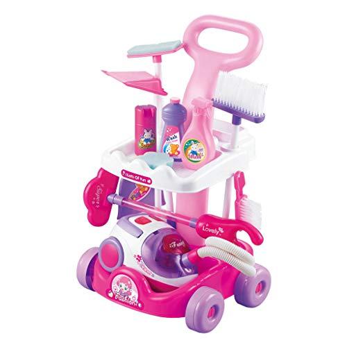 Fcostume Kinderspielzeug Staubsauger Geräusche für Mädchen Jungen Spielzeug Küche Geschenk Heiß (B)