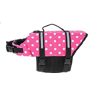 Doggie Style Store Pink Dot Dog Lifejacket Life Jacket Float Swimming Vest Pet Safety Suit PFD Coat – 4 Sizes 41h6xWccv3L