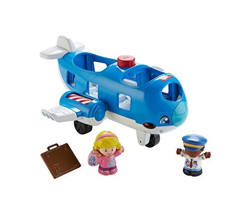 Fisher-Price FKX05 Little People Flugzeug Spielzeug für Kleinkinder mit Geräuschen und Liedern inkl. 2 Spielfiguren, ab 12 Monaten deutschsprachig