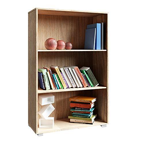 Deuba Standregal Bücherregal Wandregal Regal Holz Vela 3 Fächer Eiche - weitere Modell- & Farbauswahl -