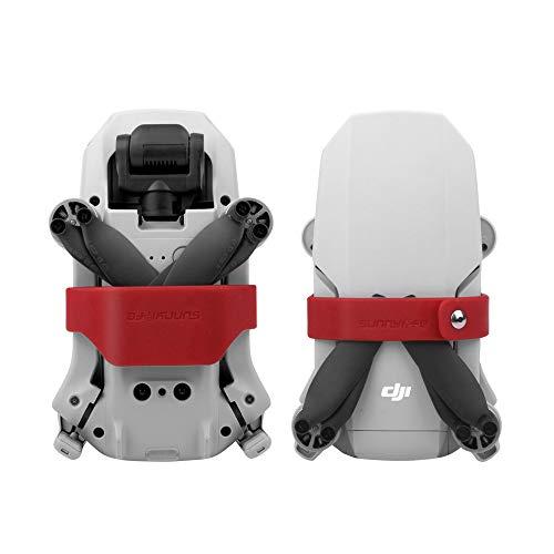 Linghuang Sujeción de Las hélices para Mavic Mini Estabilizadores del Soporte para la hélice Protección de Silicona Prop para dji Mavic Mini Drone Accesorios (Rojo)