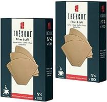 Tréscol Kahve Filtresi 4 Numara (Büyük Boy) Naturel Kağıt 2X100 200'lü Paket