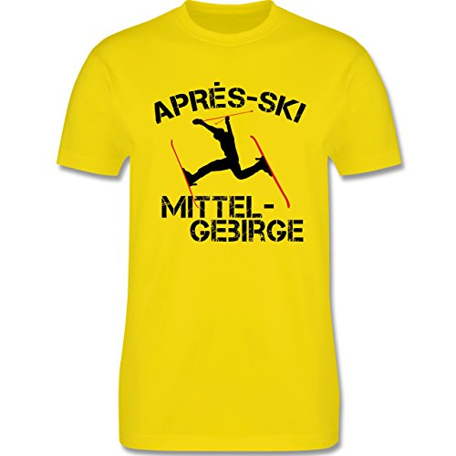 Après Ski - Apres Ski Mittelgebirge - Herren Premium T-Shirt Lemon Gelb