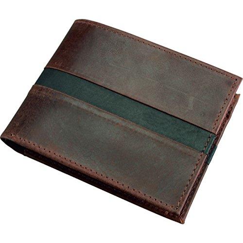 ALASSIO Portefeuille format paysage en cuir véritable, env. 12,5 x 9,5 cm Porte-monnaie Bourse, 12 cm, marron