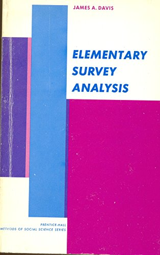 Elementary Survey Analysis (Prentice-Hall methods of social science series)