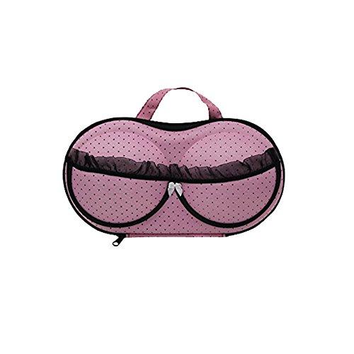 weimay portátil estuche de almacenamiento sujetador ropa interior lencería funda organizador de viaje para sujetador