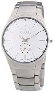 Skagen Herren-Armbanduhr XL Analog Quarz Edelstahl 924XLSXS
