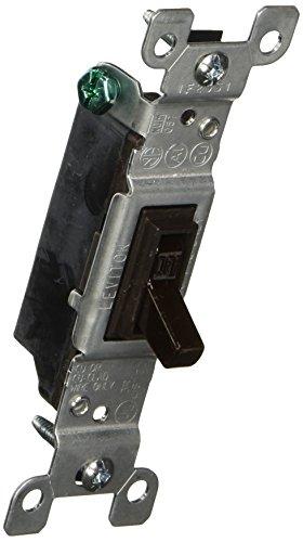 15 Amp Single Pole (Leviton S00-01451-02S Single Pole 15Amp 120V leise Kippschalter)