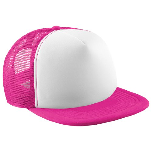 Kids Vintage Snap Back Trucker Cap Fuchsia/White