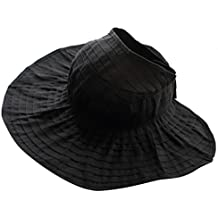 Gorro Sombrero De Sol Sombrero De Paño Visera Plegable De Playa Verano Para Mujeres - negro, L