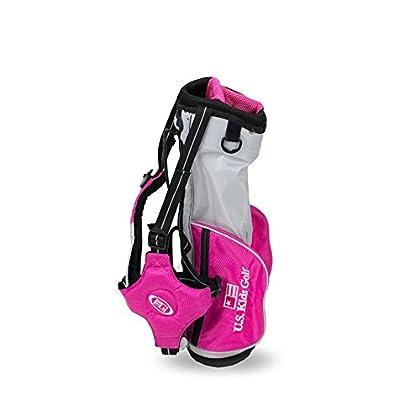 US kids Golf US39BAGP Bolsa de Palos de Golf, Unisex niños, Rosa, 95-102 cm