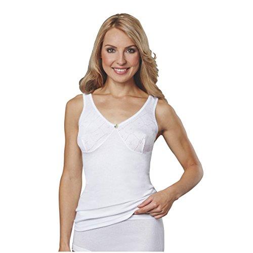 Conta Damen Achselhemd Doppelripp 5er Pack Weiß