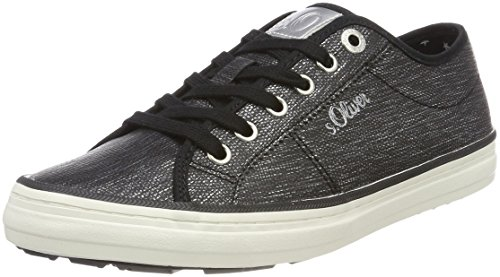 S.oliver 23640, Low Athletic Sneakers (negro)