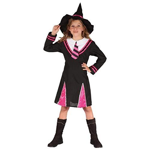 P 'tit Clown-98152-Kostüm Kinder Luxe Hexe-Größe (Rosa Und Schwarze Hexe Kostüm)