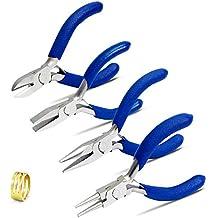 SPEEDWOX Juego de alicates para joyería, herramientas profesionales, 4 piezas, alicates de punta