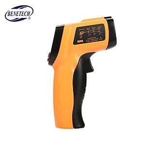 Topker BENETECH GM550E Termómetro de infrarrojos IR sin contacto digital Medidor de temperatura -50 ~ 550 ? Ajustable 0…