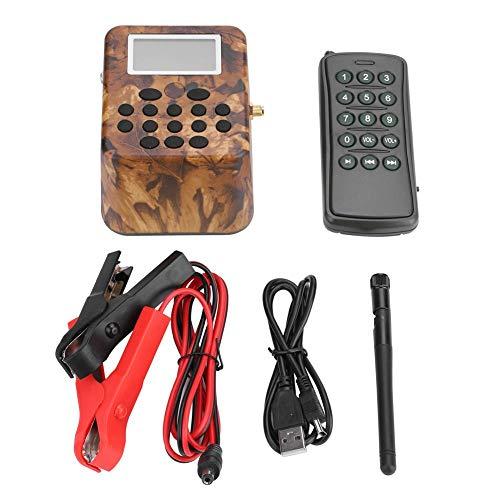 Dioche Vogel Jagd Lautsprecher, 50 Watt 12 V Elektronische Vogel Spiel Anrufer Jagd Lockvogel Anrufe MP3 Lautsprecher Fernbedienung