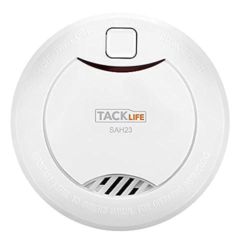 Tacklife SAH23 Classic Smoke Detector Alarm Bedroom Kitchen Smoke Alarm 10-Year Battery Operated