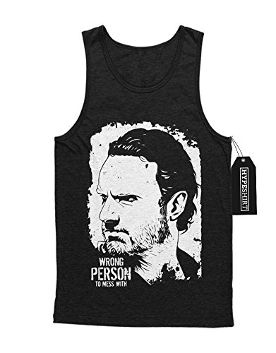 Tank-Top TWD Rick Wrong Person To Mess With C978245 Schwarz