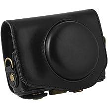 Canon Power Shot G7X camera case - SODIAL(R)for Canon Power Shot G7X For Canon digital camera PU leather camera case with shoulder belt (black)