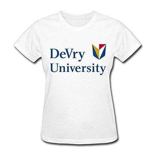 femmes-devry-university-logo-t-shirt-white