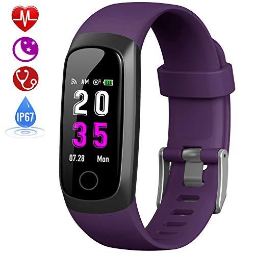 HETP Fitness Armband mit Pulsmesser, Fitness Tracker Uhr Blutdruckmesser Wasserdicht IP67 Schrittzähler Uhr Stoppuhr Sport GPS Aktivitätstracker Schlafüberwachung Anruf SMS für Kinder Damen Männer - Samsung Gps