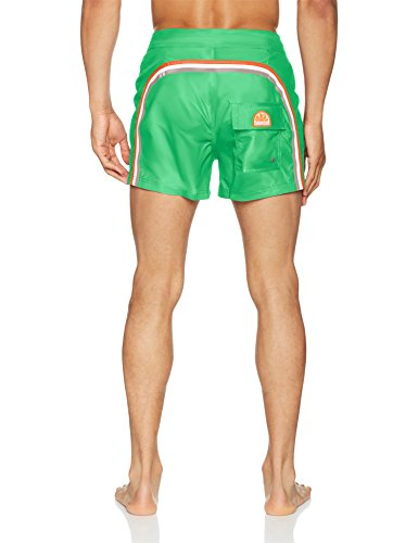 SUNDEK Herren Shorts M535bdta100, True Blue Grün (Bright Green)