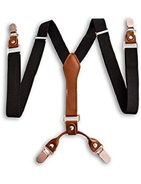 Hochwertige schwarz hosenträger einstellbar - 4 Clips / Y-Form - Oxford Collection -