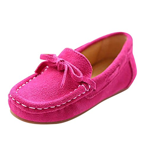YiJee Enfants Bout Rond Respirant Mocassins Bowknot Plat Chaussures Rose