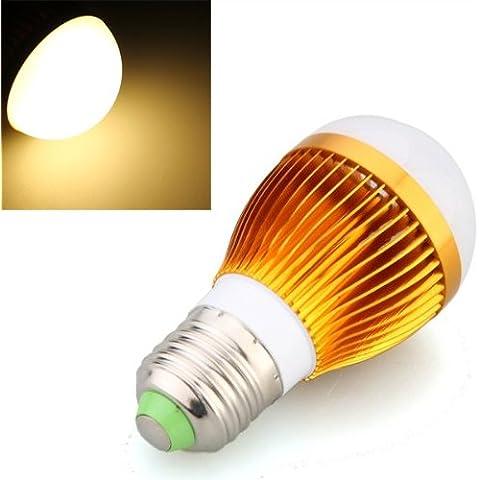 SODIAL(R) Bombilla Lampara E27 3 LED Luz Blanco Calido 6W Regulable Alta Potencia