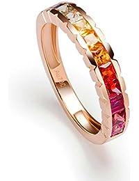 9ff146646263 AnaZoz (Tamaño Personalizado) 18K Oro Joyas Anillo Diamante Anillo Mujer  Anillo Anillo de Diamante