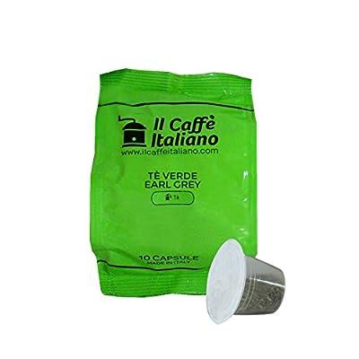 50 Capsules compatibles Nespresso - 50 capsules thé vert, earl grey compatibles aux Machines à café Nespresso, kit 50 capsules thé vert earl grey - Il caffè italiano.
