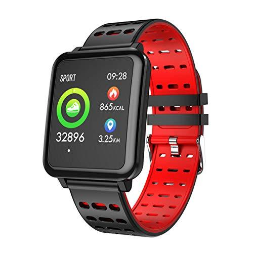 TYWZF Fitness Tracker Pulsera Inteligente Monitor De Ritmo Cardíaco Banda Inteligente Mensaje De Empuje Recordatorio De Llamada Reloj Hombres,Red