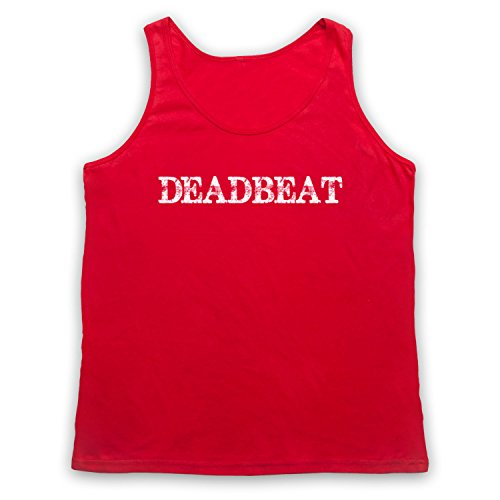 Deadbeat Funny Slogan Tank-Top Weste Rot