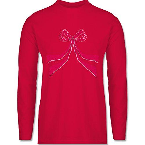 Shirtracer Vintage - Schleife Punkte Herzchen - Herren Langarmshirt Rot