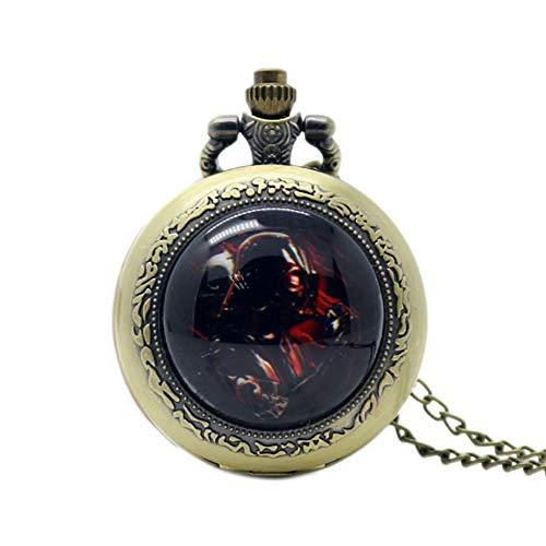 Reloj de Bolsillo único Darth Vader de Cuarzo para Hombres, Reloj de Bolsillo de Regalo para niños