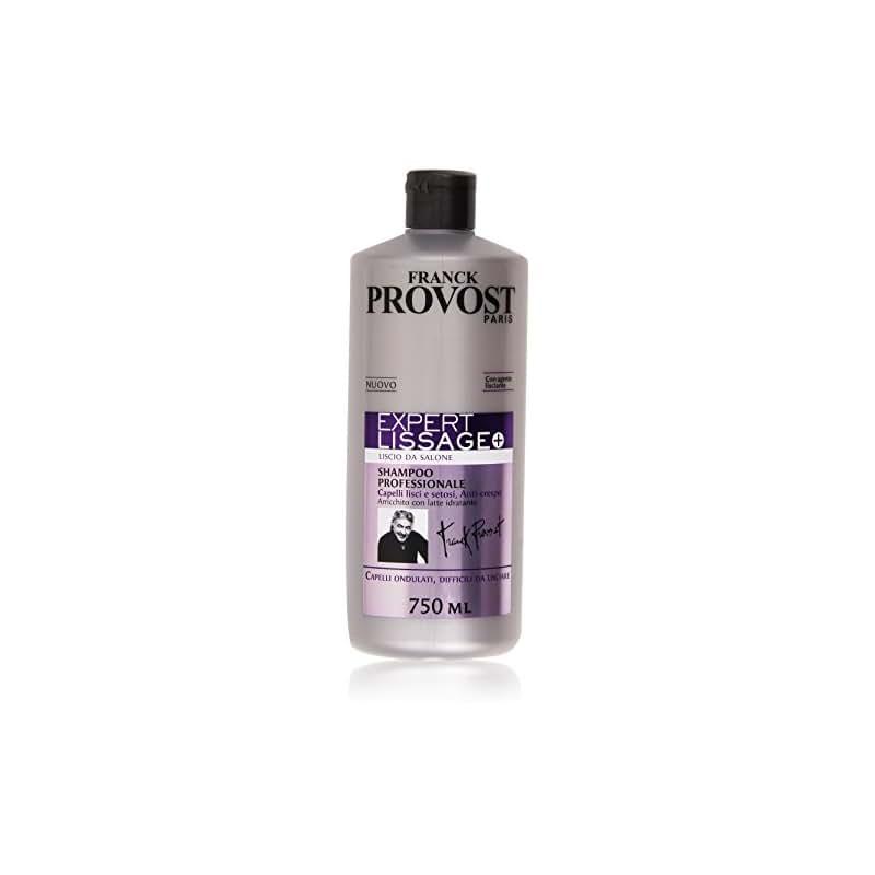 Franck Provost Expert Lissage+ Shampoo Professionale per Capelli Ondulati Difficili da Lisciare