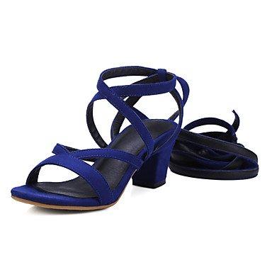 Donn di sandali scarpe Club cinturino alla caviglia similpelle Abito casual Chunky Heel Lace-up US9.5-10 / EU41 / UK7.5-8 / CN42