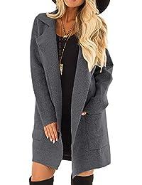 Abrigos Mujer Invierno Rebajas Elegantes Talla Grande Abrigo Manga Larga Delantera Abierta para Mujer Parka Outwear