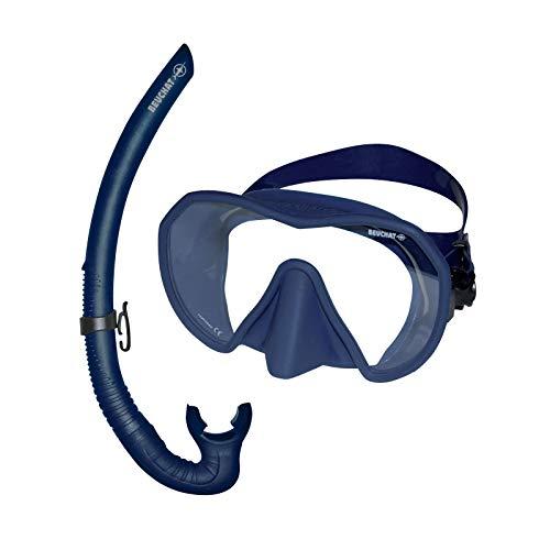 BEUCHAT Maxlux S Masque de plongée avec Tuba Spy, Bleu