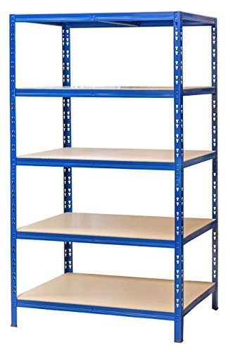 *Schwerlastregal 177x100x60 cm blau 5 Böden 175 kg Werkstattregal Reifenregal Archivregal Lagerregal*