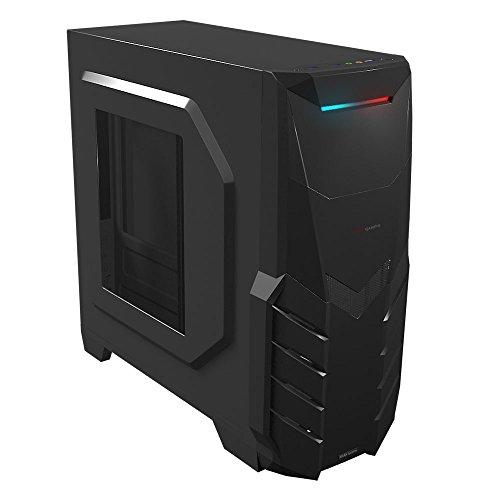 Mars Gaming MC316 - Caja de ordenador gaming (semitorre, ventana acrílica, ventilador frontal 12cm incluido, micro ATX, 7 slots expansión, VGA hasta 250 mm, USB 3.0, audio HD+micrófono)