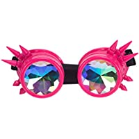 ZAIQUN Rivet Steampunk Goggles Cyber Welding Goth Cosplay Vintage Goggles Rustic Rave Party Fancy Dress Costume